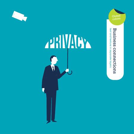 finance director: Vector umbrella privacy Illustration