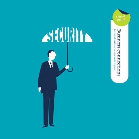 financial sector: Vector umbrella security