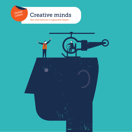 impart: Bulb helicopter on a head Illustration