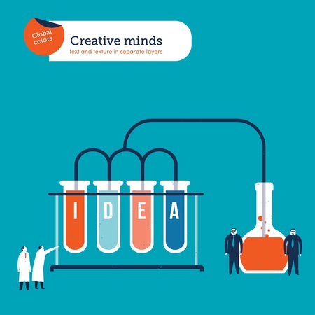 Scientists creating a formula to make ideas happen Reklamní fotografie - 123329486