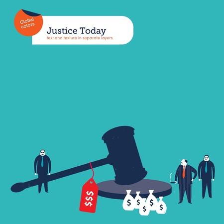 Corrupt mafia boss bribing justice