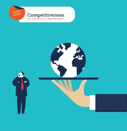 competitividad: Dé el ofrecimiento de un hombre de negocios de todo el mundo que no está interesado.
