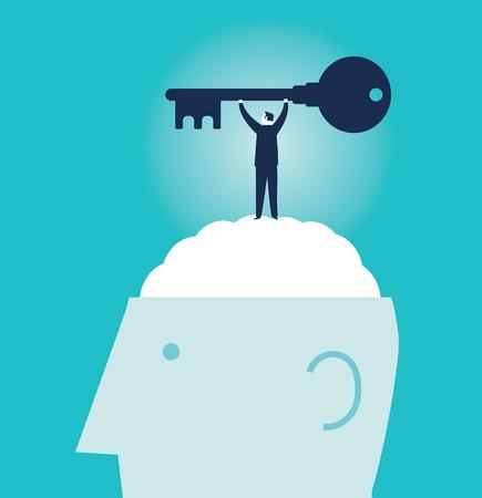 Success businessman icon Illustration