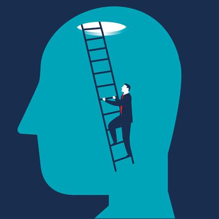 Businessman brain searching