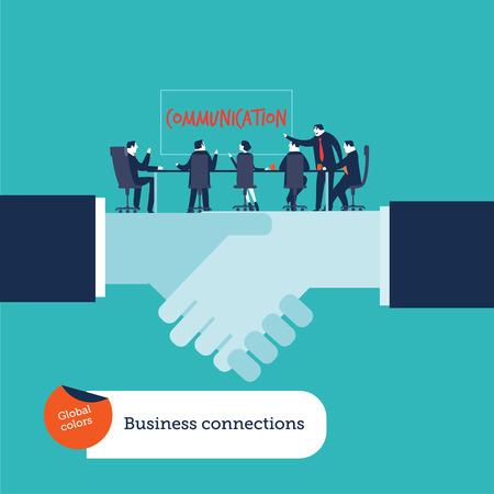 Businessmen meeting on a handshake