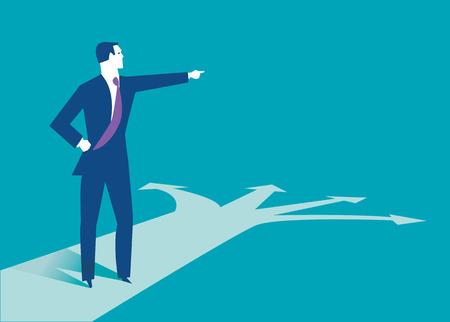 Geschäftsmann macht die beste Wahl. Business-Konzept Illustration.