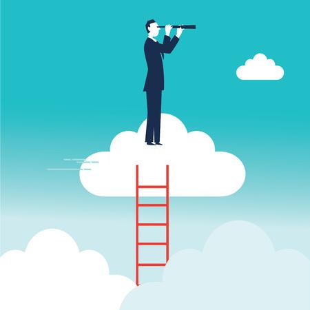 Concept business illustration Ilustrace
