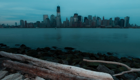 Lower Manhattan Skyline just after Sunset photo