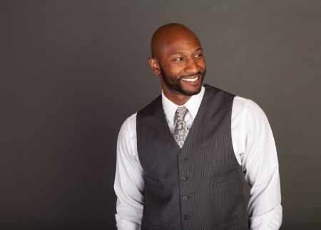 Young black business man wearing a suite and tie Stock Photo - 14447971