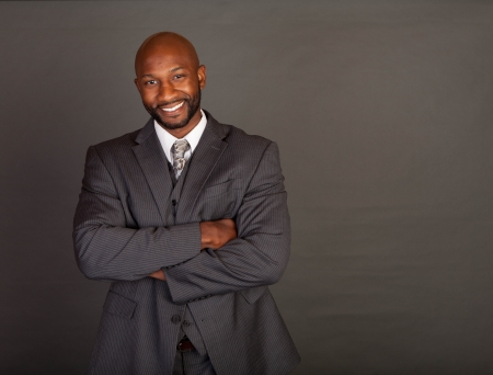 Young black business man wearing a suite and tie Stock Photo - 14447977