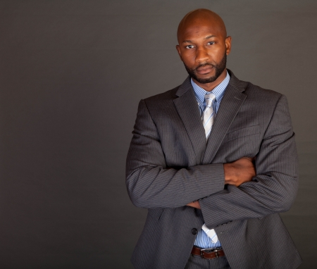 Portrait of a handsome young African American business man Stock Photo - 14618668