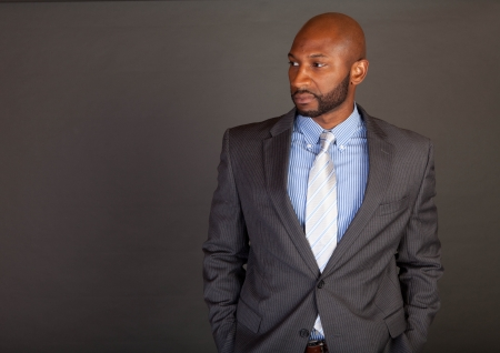 Portrait of a handsome young African American business man Stock Photo - 14618666