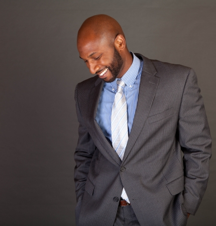 Portrait of a handsome young African American business man Stock Photo - 14618670