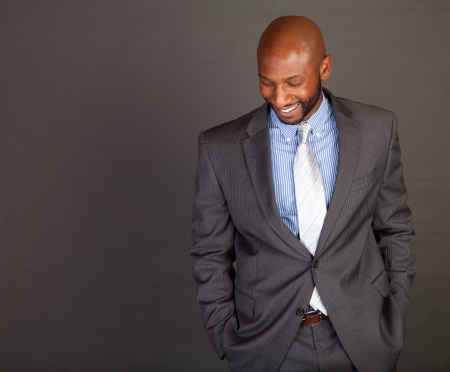 Portrait of a handsome young African American business man Stock Photo - 14618664