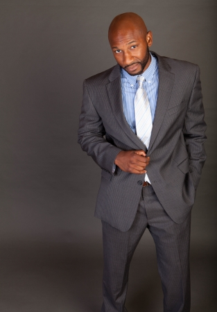Portrait of a handsome young African American business man photo