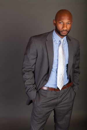 Portrait of a handsome young African American business man Stock Photo - 14620573