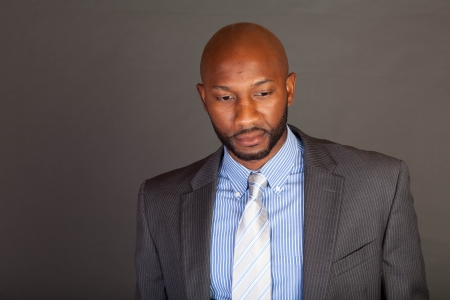 african business: Portrait of a handsome young African American business man