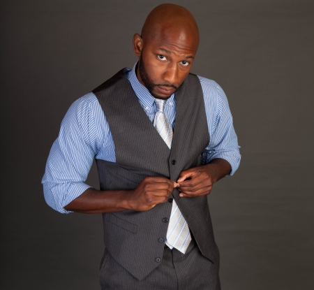 Portrait of a handsome young African American business man Stock Photo - 14618655