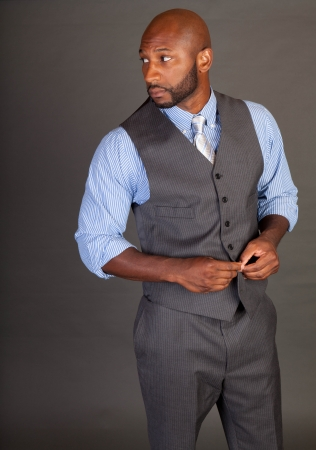 Portrait of a handsome young African American business man Stock Photo - 14620569
