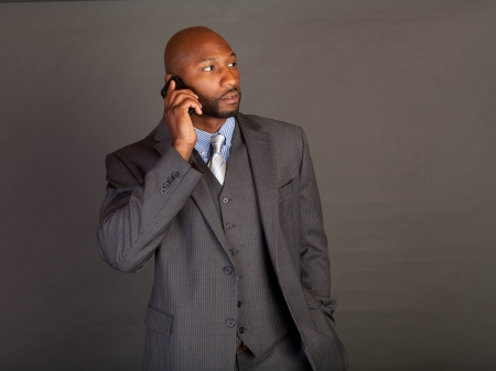 Portrait of a handsome young African American business man Stock Photo - 14618667