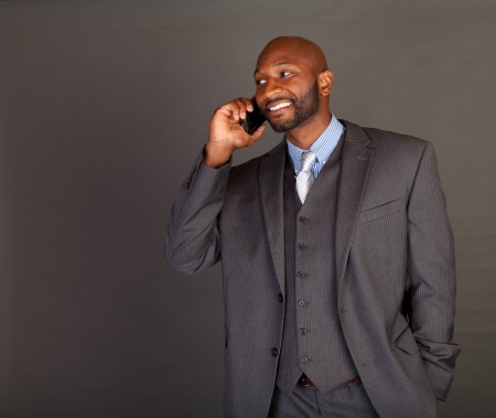 Portrait of a handsome young African American business man Stock Photo - 14618662