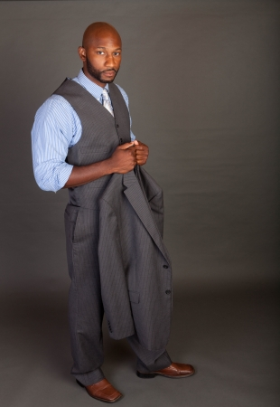 Portrait of a handsome young African American business man Stock Photo - 14618650