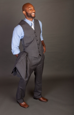 Portrait of a handsome young African American business man Stock Photo - 14618645