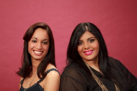 Hispanic and Indian girl in the studio