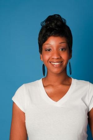 African American Girl in the Studio photo