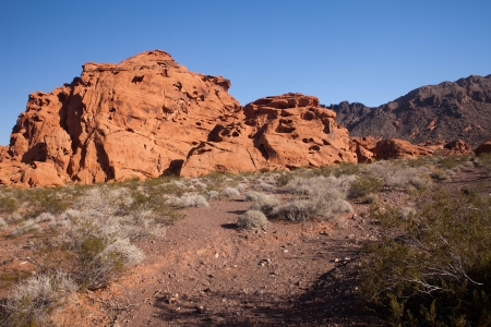 iron oxide: Landscape shot of desert rock formations in Valler of Fire Nevada USA