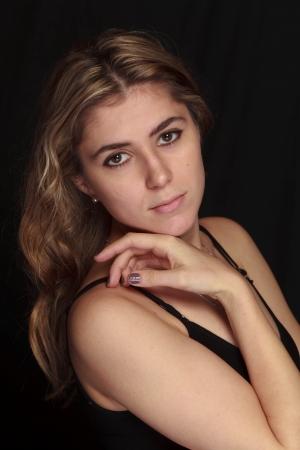 sexy blonde girl: Studio portret z sexy blondynka