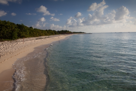 location shot: Location shot of a clear ocean in the wester caribbean