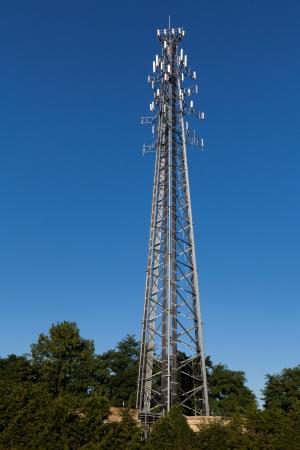 High Tech Communication Tower Stock Photo