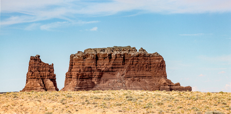 Rocky Desert Formation in Goblin Valley State Park in Utah Stock Photo