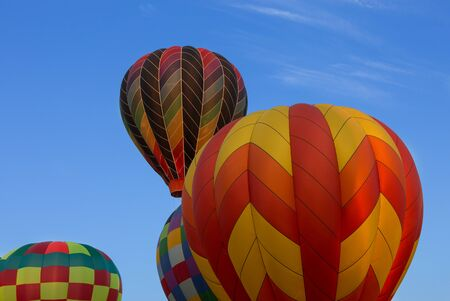 Nice shot of hot air balloons as they take flight over New England Stock Photo
