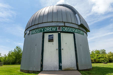 Charlestown, Rhode Island, USA - May 30, 2020 - Frosty Drew Observatory in daylight