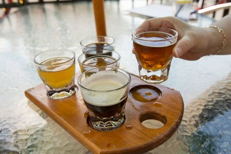 Beer Flight from above