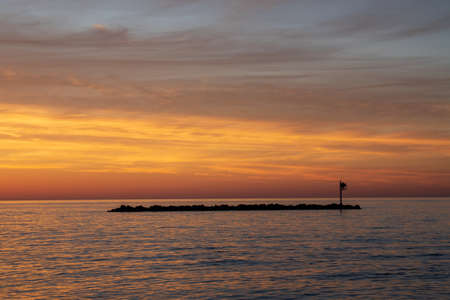 Lake Erie at dawn from East Harbor State Park Reklamní fotografie