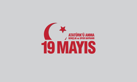 May 19th, Ataturk Memorial Youth and Sports Festival banner. Çizim