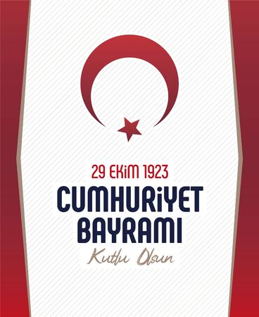 Happy 29 October Republic Day, 29 october Republic Day Turkey and the National Day in Turkey Vecteurs