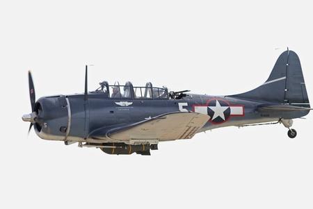Monroe, North Carolina - November 4, 2012:  World War II Douglas Dauntless Dive-Bomber Performing during Warbirds Over Monroe Air Show in Monroe, NC, on November 4, 2012.