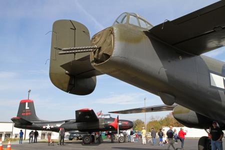 Monroe, North Carolina - November 4, 2012:  World War II Vintage Aircraft on Display during Warbirds Over Monroe Air Show in Monroe, NC, on November 4, 2012. Editorial