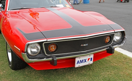 Concord, North Carolina - September 21, 2013   A 1973 AMX Javelin on display at the Charlotte AutoFair classic car show at Charlotte Motor Speedway in Concord, North Carolina