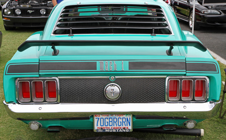 mach 1: CONCORD, NC - SEPTEMBER 21   A 1970 Ford Mustang Mach 1 on display at the Charlotte AutoFair classic car show at Charlotte Motor Speedway in Concord, North Carolina, September 21, 2013  Editorial