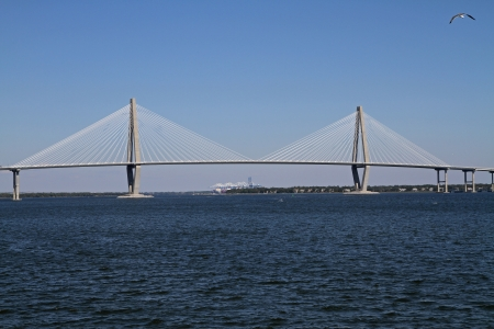 The Arthur Ravenel Jr   Cooper River  Bridge in Charleston, South Carolina photo