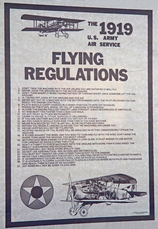 warbirds: MONROE, NC -- NOVEMBER 8, 2014:  A WWI Aircraft Poster on Display at the Warbirds Over Monroe Air Show in Monroe, NC.