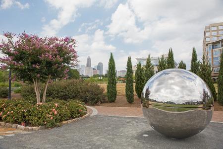 north carolina: Urban greenway near downtown Charlotte, North Carolina.