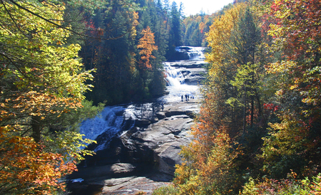 Triple Falls in the DuPont State Forest in North Carolina