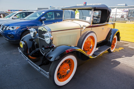 CONCORD, NC - September 22, 2017:  A 1928 Ford Model T on display at the Pennzoil AutoFair Classic Car Show at Charlotte Motor Speedway.