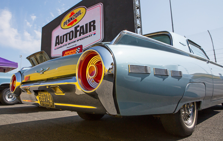 thunderbird: CONCORD, NC - September 22, 2017:  A 1962 Ford Thunderbird automobile on display at the Pennzoil AutoFair classic car show held at Charlotte Motor Speedway.